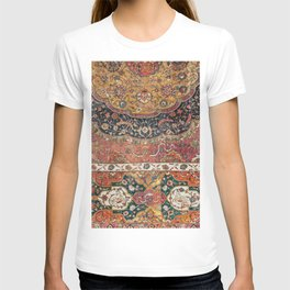 Persian Medallion Rug IX // 16th Century Distressed Red Green Blue Flowery Colorful Ornate Pattern T-shirt