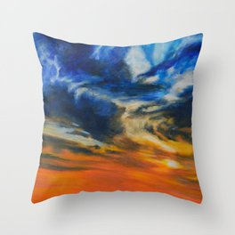 Blazing Sunset by Teresa Thompson Throw Pillow