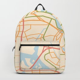 Amsterdam City Map Backpack