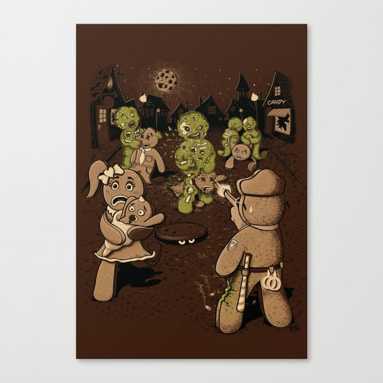 The Walking Bread Canvas Print