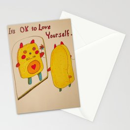 It's OK to Love Youself Stationery Cards