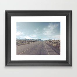All roads lead to adventure Framed Art Print