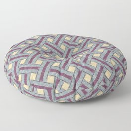 Braided pattern in retro style Floor Pillow