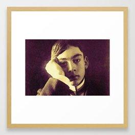 Kahlil Gibran Portrait in watercolor Framed Art Print