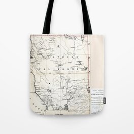 Northern California Map 1866 Tote Bag
