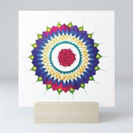 Rose Mandala Mini Art Print
