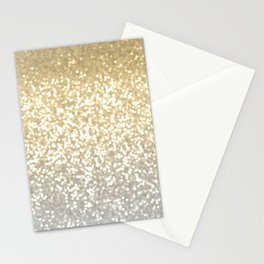 Gold and Silver Glitter Ombre Stationery Cards