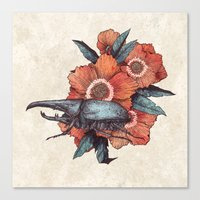 hercules Canvas Prints featuring Hercules Beetle by Angela Rizza