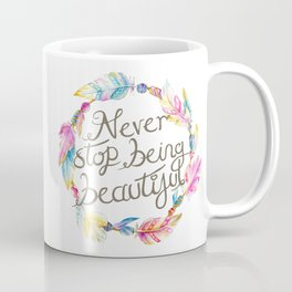 Boho feathers never stop being beautiful Coffee Mug