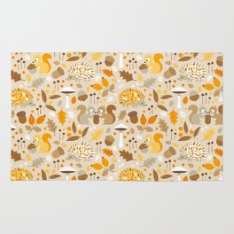 forest in fall Rug