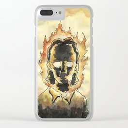 En fuego. Clear iPhone Case