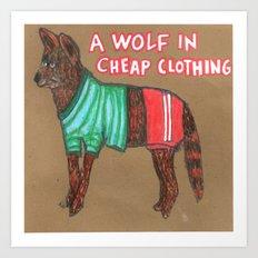 Pillow Wolf! Art Print