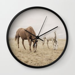 Open Country Horse Photograph Wall Clock