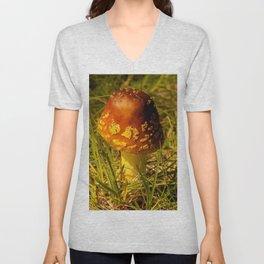 Wild Mushroom in the Afternoon Unisex V-Neck