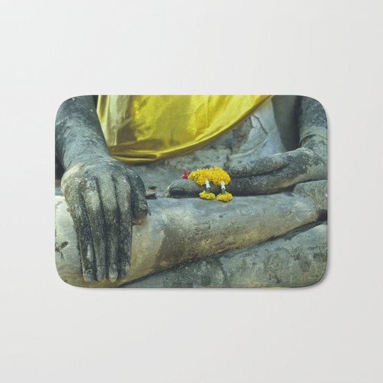 Buddha in Thailand Bath Mat