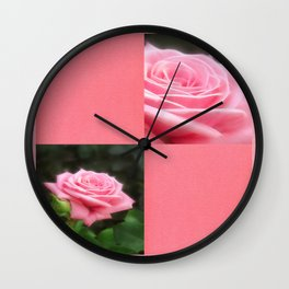 Pink Roses in Anzures 3 Blank Q11F0 Wall Clock