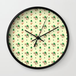 ANIMALS WITH HATS Wall Clock