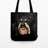givenchy Tote Bags featuring Givenchy Antigona Rottweiler Art Print by Le' + WK$amahoodT Boutique by Paynasa®