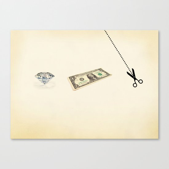 rock, paper, scissors Canvas Print