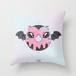 Batty Donut Throw Pillow