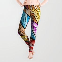 Colorful Fur Leggings