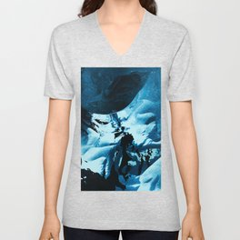 Looks like the sea is crumbling Unisex V-Neck