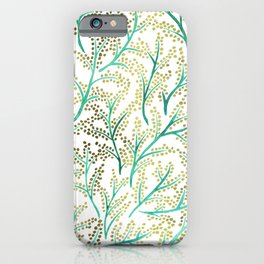 Green & Gold Branches iPhone Case