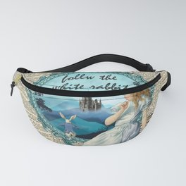 Follow The White Rabbit - Vintage Dictionary page Fanny Pack