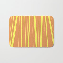 Orange And Yellow Stripes - Abstract Sunshine Bath Mat
