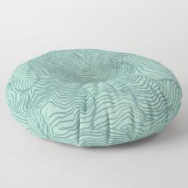 Perception in Mint Green Floor Pillow