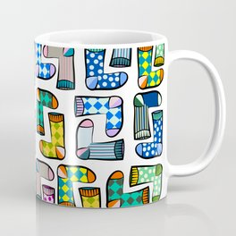 Colorful socks pattern Coffee Mug