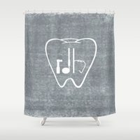 tooth Shower Curtains featuring RDH Tooth by ProBoutique