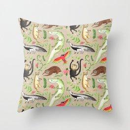 Rainforest Critters Throw Pillow