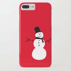 Christmas Snowman-Red iPhone 7 Plus Slim Case