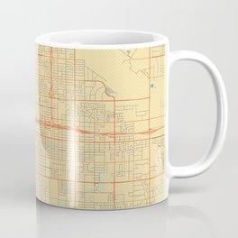 Fresno Map Retro Coffee Mug