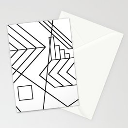 Normality - Black and white abstract geometric minimalism Stationery Cards