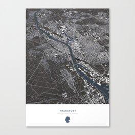 Frankfurt City Map Canvas Print
