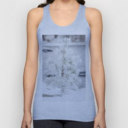 Snowy small tree Unisex Tank Top