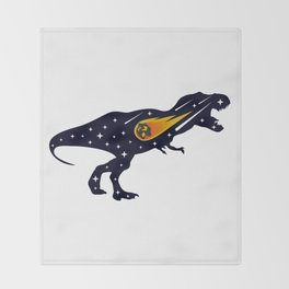 Dinosaur and meteorite strike #society6 #decor #buyart #artprint Throw Blanket