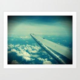 On the wings... Art Print