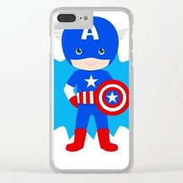 Superhero Clear iPhone Case