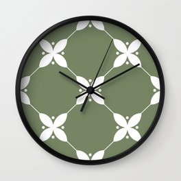 Abstract Floral Pattern Wall Clock