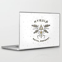 hyrule Laptop & iPad Skins featuring Hyrule Royal Brewery by Tugrul Peker