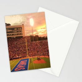 KU Memorial Stadium - Sunset Stationery Cards