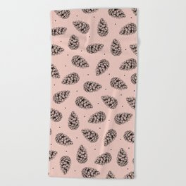 Pink cones Beach Towel