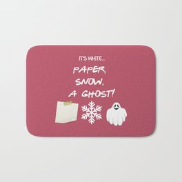 Paper, Snow, A Ghost! - Friends TV Show Bath Mat