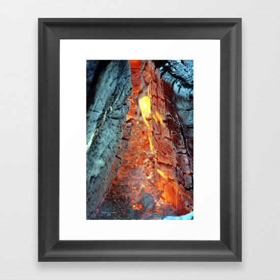 Burning Logs Framed Art Print