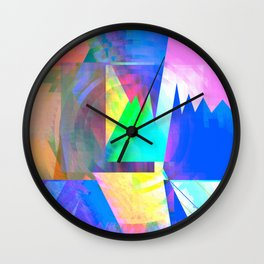 Pastel City Dreamscape Wall Clock