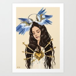 """The seven sorrows of Lana"" Art Print"