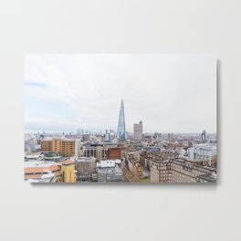City Skyline View of the Shard, London Metal Print